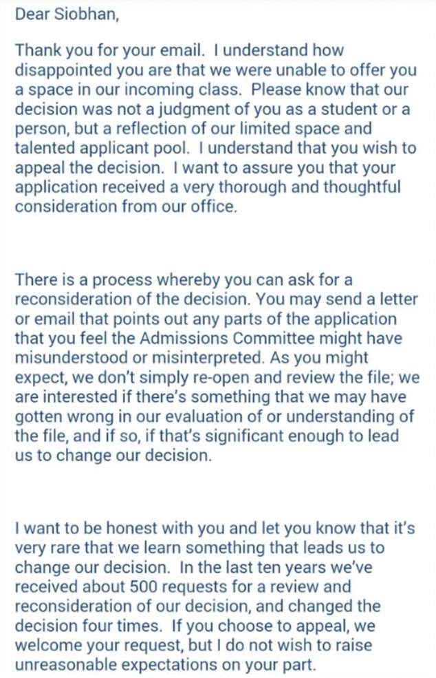 Student Gets Rejection Letter From College, So Rejects The Rejection Letter 2732F7F400000578 3021071 image m 55 1427899976249