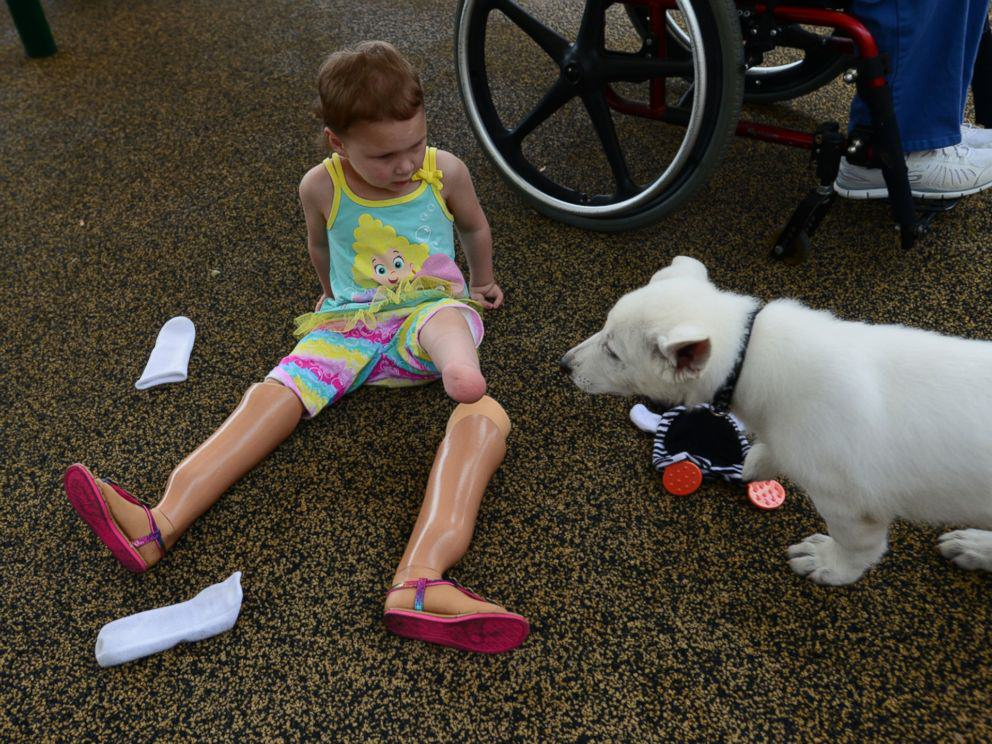 37 Tennessee Toddler Born Without Feet Gets Puppy Without a Paw
