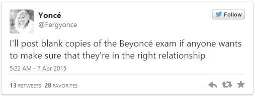 4 This Girl Made Her Boyfriend Sit A Beyonce Exam To Decide Whether They Should Stay Together