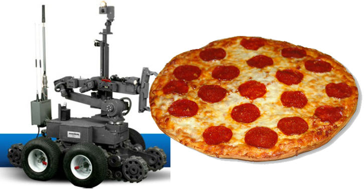 TN118 Police Use A Pizza Delivering Robot To Save A Man From Suicide