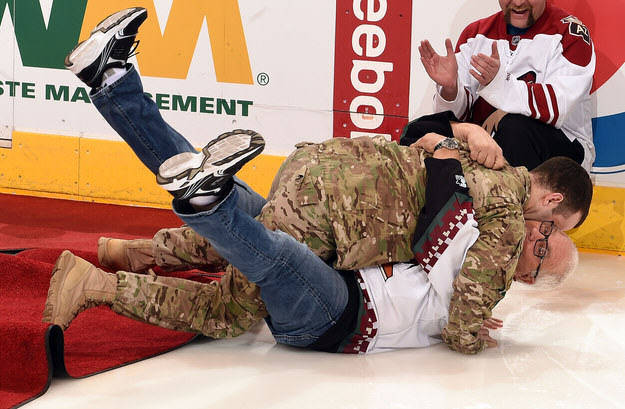 enhanced 25296 1428857911 13 Dad Falls Over As Returning Soldier Son Surprises Him