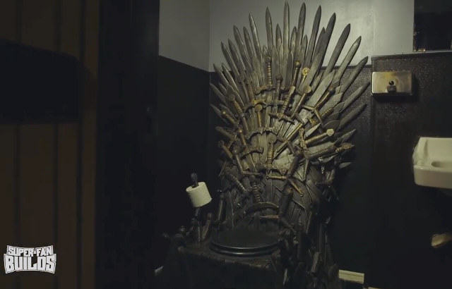 game of thrones toilet This Game Of Thrones Fan Now Has An Iron Throne Toilet