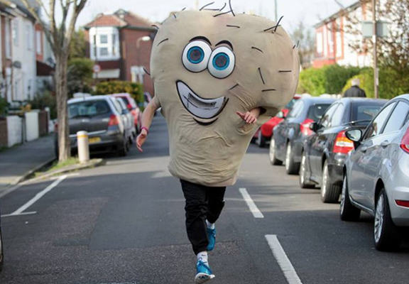 hairyWEBTHUMBNEW Lad To Run As Giant Pair Of Hairy Testicles In London Marathon