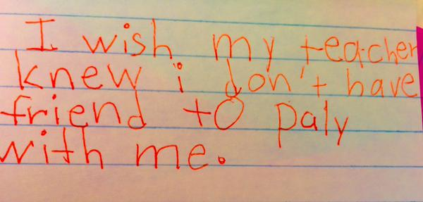 Teacher Asks Kids To Write What They Wished She Knew, Replies Will Break Your Heart kids 4