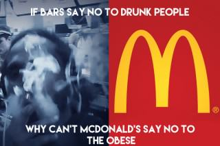 Black The Ripper Smokes Weed In McDonald's Restaurant To Make A Point