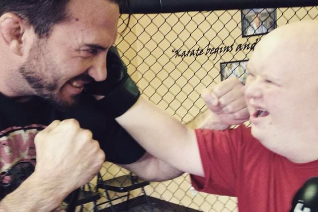 Inspirational Lad With Downs Syndrome Gets MMA Debut mma 640x426