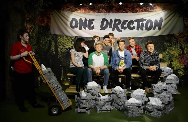 one Madame Tussauds Now Has Tissue Attendant For One Direction Sculptures