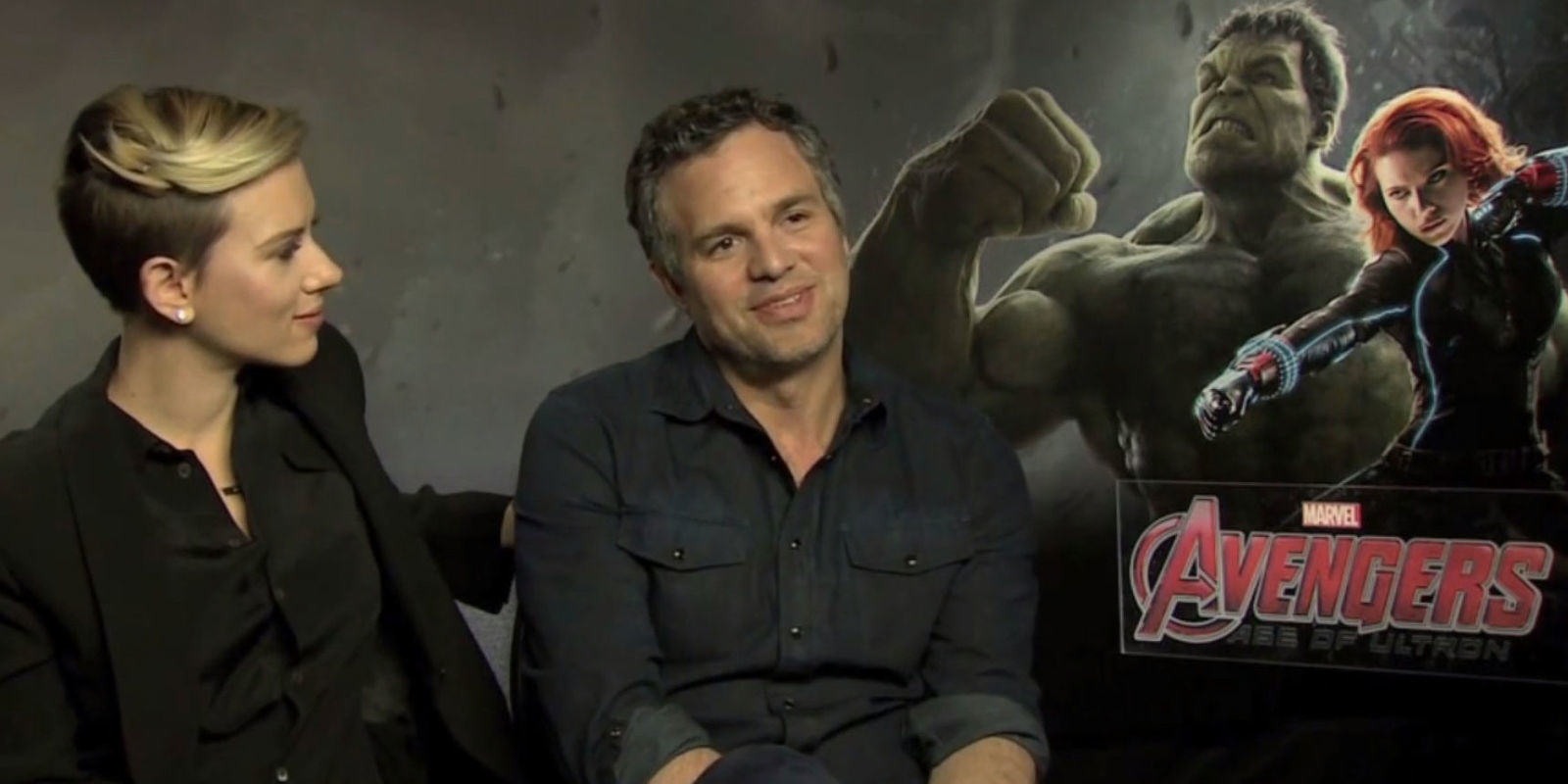 Interviewer Turns The Tables On Mark Ruffalo And Scarlett Johansson During Avengers Press Tour ruffaloq