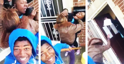 selfie stick Guy Films Fight Between Mother And Girlfriend With Selfie Stick, Things Get Messy