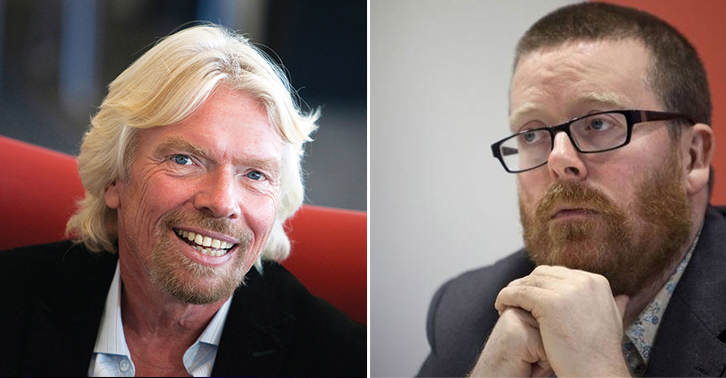 tgyhbnjm Frankie Boyle Has Branded Richard Branson A Mad C*nt