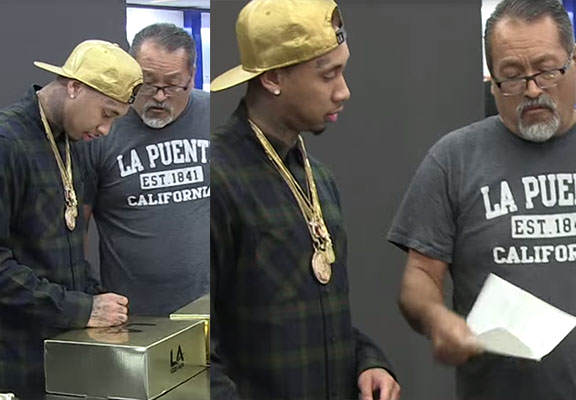 tygaWEBTHUMBNEW Tyga Gets Legal Papers Served To Him By Fan At Release Party