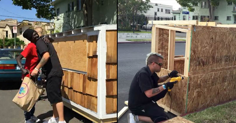 11 Man Builds Tiny House For 60 Year Old Homeless Woman