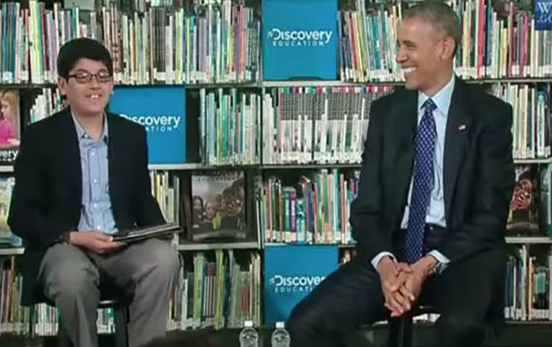 14 Child Interviewer Cuts Off Barack Obama For Talking Too Much