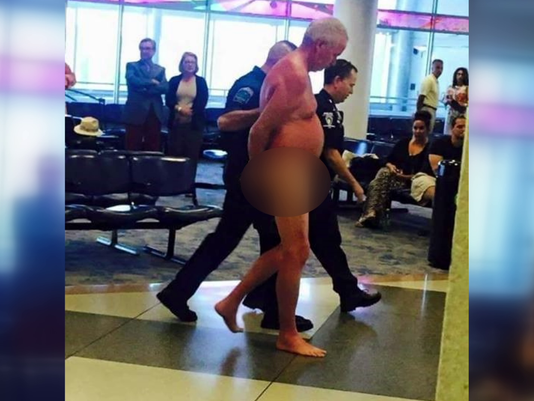 airport Dude Gets Naked At Airport, All Because Of Overbooked Flight