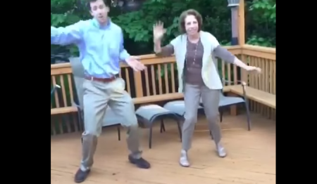 brobible Dude Teaches Mother To Dance The Whip, Makes For Seriously Cringe Viewing