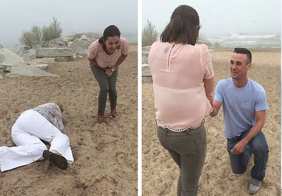faceplant proposal WEB Mum With ZERO Balance Ruins Moment By Faceplanting During Daughters Proposal