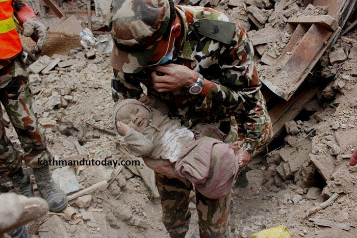 nepalbaby3 19 Year Old Saves 55 Orphans During The Devastating Earthquake In Nepal