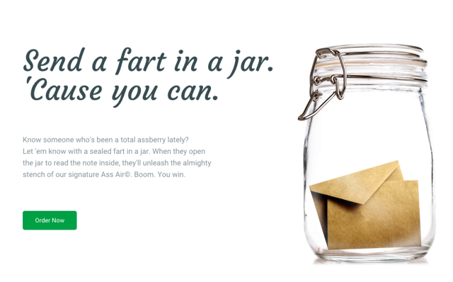 send a jart You Can Now Send Farts In A Jar Because WTF Society