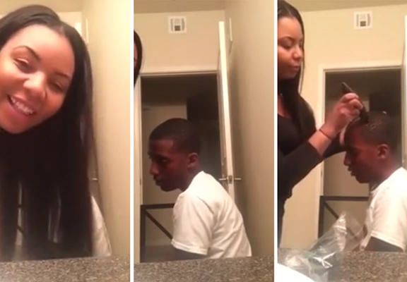 shaved head WEB Woman Shaves 12 Year Old Stepsons Head For Smoking Cannabis