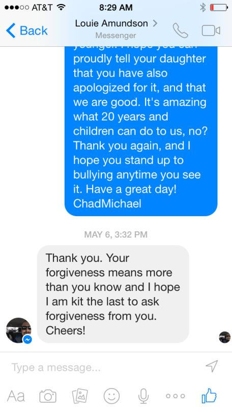 Bully Apologizes To Victim 20 Years Later Via Facebook Messenger sorry2