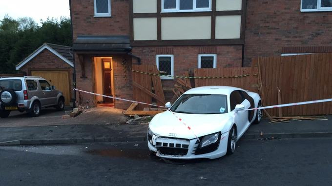 stream img 2 Drunk Teenager Crashes Dads £100,000 Audi R8 Into Pensioners Home