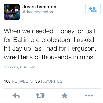 tweet2 Jay Z Reportedly Covered Bail For Hundreds Of Protestors In Ferguson And Baltimore