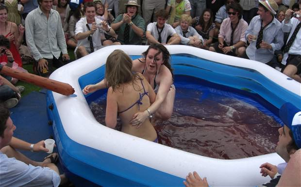 1105 Womens Jelly Wrestling Banned At University After Archbishop Throws A Wobbler
