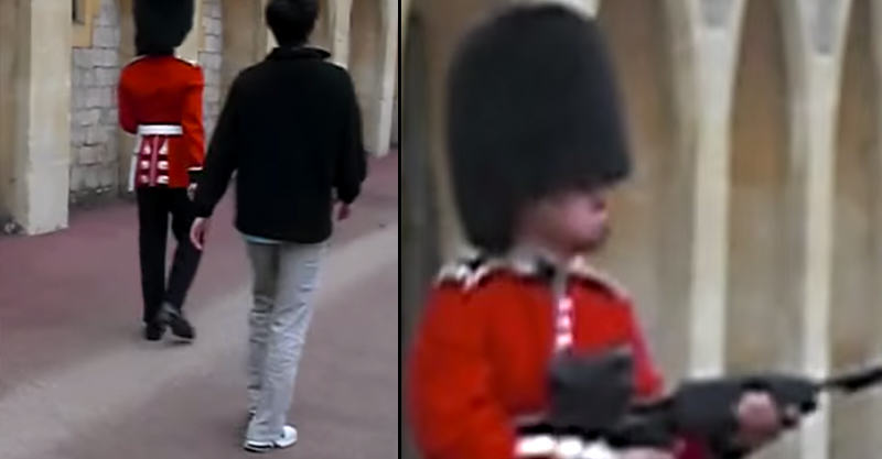 Queens Guard Pulls Rifle On Tourist Who Is Annoying Him 1142
