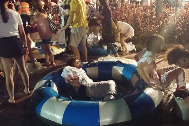 1152 Footage Of Explosion As Up To 200 People Injured Water Park Nightclub