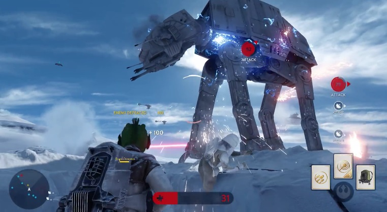 220 Star Wars Battlefront Multiplayer Footage Unveiled At E3   Get Excited!