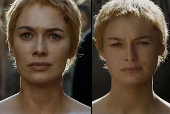 Lena Headey Used Body Double For Nude Walk Of Shame In Game Of Thrones Season Finale faces