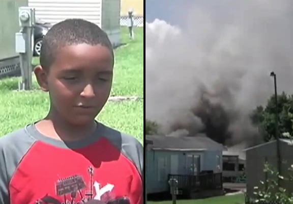 10 Year Old Lad Rescues Two Children From Mobile Home Blaze isiah WEB