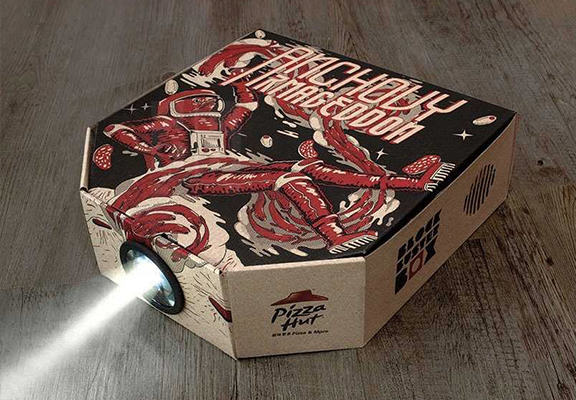 pizza projector WEB Pizza Hut Now Has A Delivery Box Which Turns Into A Film Projector