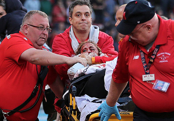 red sox web Fan Hit By Broken Bat During Red Sox Game Has Life Threatening Injuries