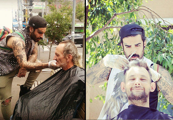 This Barber Spends His Days Off Giving Free Haircuts To The Homeless streets barber WEB