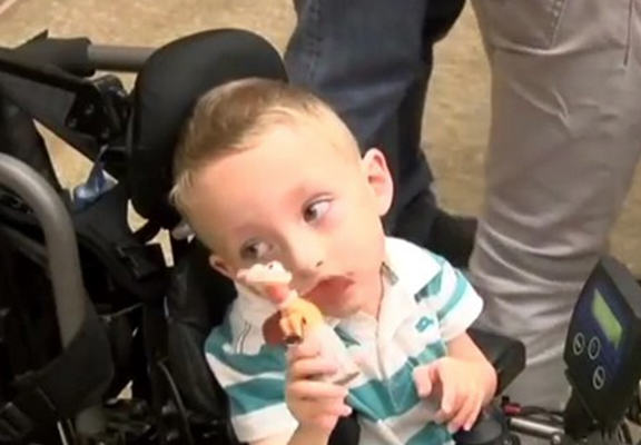 toy collection web Man Auctions Toy Collection To Get Disabled Boy New Wheelchair