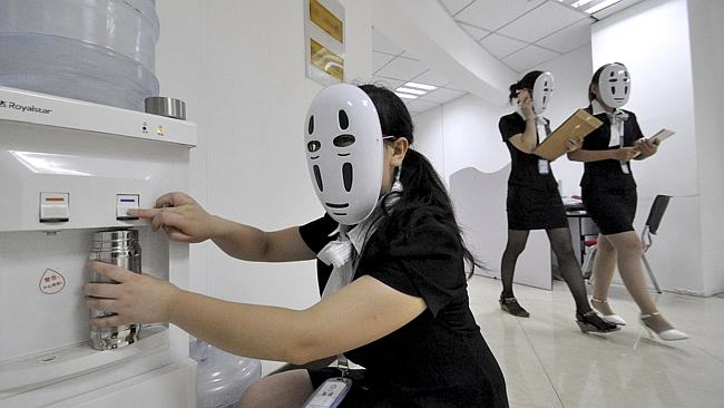 1107 Chinese Workers Go Faceless For A Day To Avoid Faking Expressions