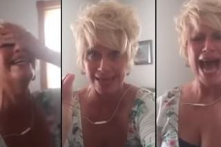 Crazy Christian Woman Completely Loses It Over Gay Marriage