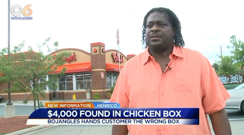 1142 Man Finds $4000 In Box Of Fried Chicken, Life Is Good