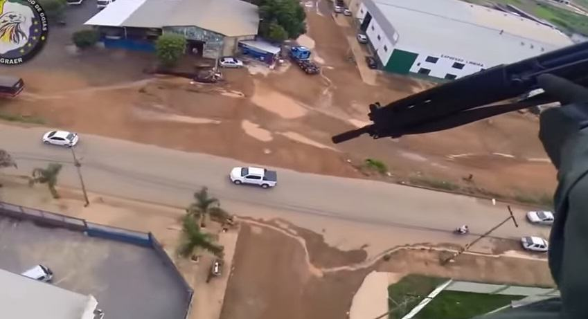 134 Police Helicopter Gun Squad Shoot At Brazilian Gangster On The Run
