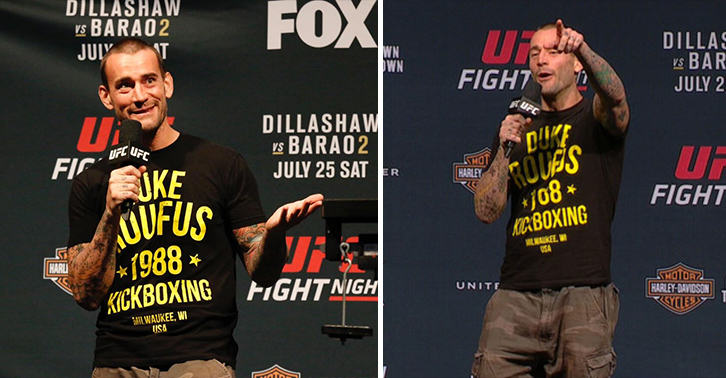 55b6338643e06 Priceless Moment CM Punk Is Called Out By Idiot Looking For Fight