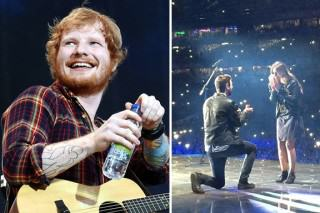 Ed Sheeran Helps Mate Propose In Front Of 80,000 People