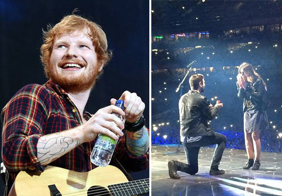 Ed Sheeran Helps His Friends Propose