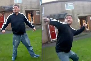 Dramatic Bodycam Footage Shows Knife Wielding Man Attack Police Officers