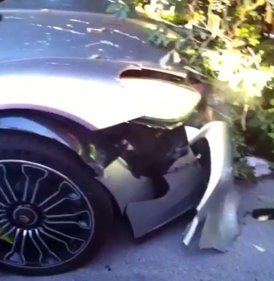 55b9fcd8b2c87 Idiot Crashes His £1 Million Porsche While Attempting To Show Off