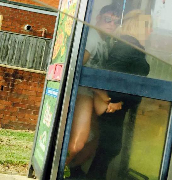 Box 1 SWNS Couple Stop To Have Sex In Phone Box On Way To Buy Fish, As You Do