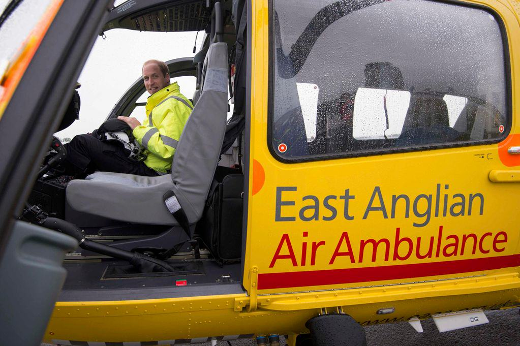 Prince William co pilot with the East Anglian Air Ambulanc Prince William Takes Full Time Job, Donates Wages To Charity