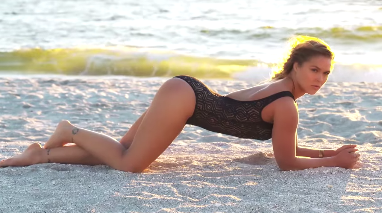Screen Shot 2015 07 01 at 10.35.07 The Video For Ronda Rouseys SI Swimsuit Edition Is Here