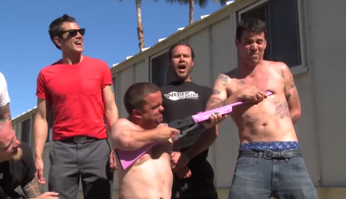 Never Seen Before Jackass Footage Shows Steve O Using A BB Gun To Pierce His Nipple Screen Shot 2015 07 16 at 17.48.13