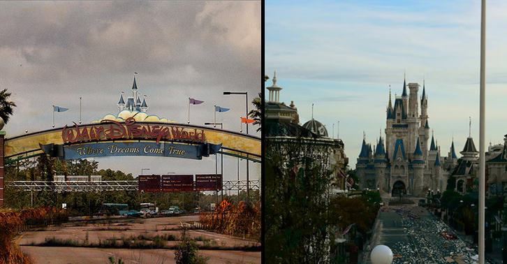 disneylandfacebook These Images Of A Post Apocalyptic Disney World Are Actually Really Disturbing